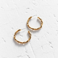 Elise Twisted Hoop Earring - Urban Outfitters