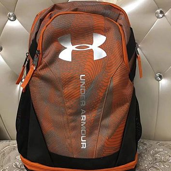 Under Armour 2018 new men's and women's sports backpack F0682-1 orange