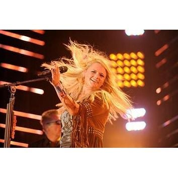 Miranda Lambert On Stage poster Metal Sign Wall Art 8in x 12in