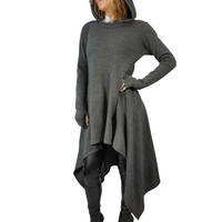 Winter Autumn Women Dress Sexy Hoodies Long Sleeve Pockets Casual Mini Vestidos Plus Size Women Clothing women Irregular dress