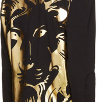 Black & Gold Foil Lion Head Shirt