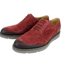 Gucci Oxford Red Suede Dress Shoes with Logo 322483 6123