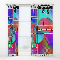Rainbow 19 Window Curtains by Zia