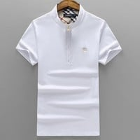 Boys & Men Burberry Fashion Casual Shirt Top Tee