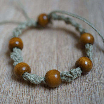 Friendship Bracelet, Hemp Bracelet, Hemp Jewelry, Surfer Bracelet, Beaded Hemp Bracelet,
