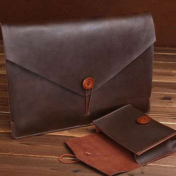macbook Crazy Horse Leather Case Cover