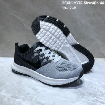 KUYOU N833 Nike Run Swift TV4 Flyknit Breathable Running Shoes Grey Black