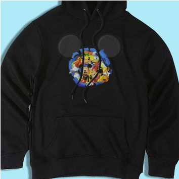 Disney Silhouettes Mickey Mouse And Frieds Men'S Hoodie