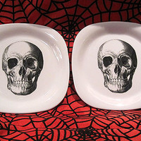 Skull and Crossbones Appetizer Plates