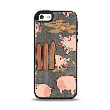 The Cartoon Muddy Pigs Apple iPhone 5-5s Otterbox Symmetry Case Skin Set
