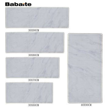Babaite Colorful White Marble Feature Characters Design Speed Control Gaming Surface Mouse Pad Computer Notebook Mice Mat