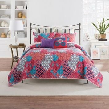 Anthology™ Minka Quilted Pillow Sham in Fuchsia