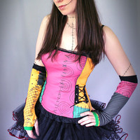 Nightmare Before Christmas Sally ragdoll corset top - custom made to order - smarmyclothes goth halloween