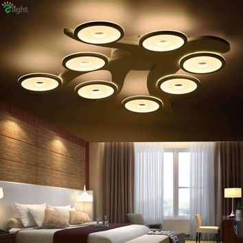 2016 Creative Painted Branch Metal Ceiling Led Chandelier Dimmable By Remote Controller Foyer Acrylic Tree Lustre Led Chandelier