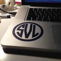 4 inch Monogram Sticker Vinyl Great for Laptops and Notebooks