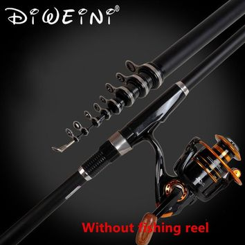 2.4m 3.0m 3.6m 4.5m 5.4m 6.3m 7.2m Carbon Rock Telescopic Fishing Rod Sea Rods Spinning Fishing Pole (without reel)