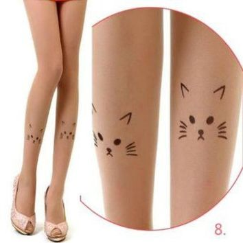 Cat Face Tights
