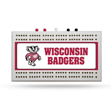 "WISCONSIN ""BUCKY"" BADGER CRIBBAGE BOARD"