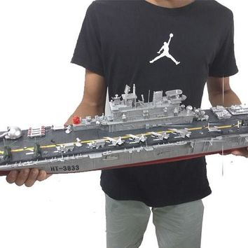 RADIO REMOTE CONTROL LARGE RC BOAT  US. WASP-CLASS AMPHIBIOUS ASSAULT SHIP MODEL TOYS