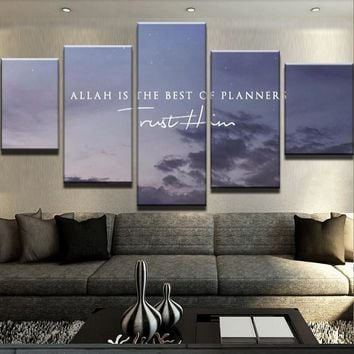 Allah Is The Best Of Planner Canvas Set