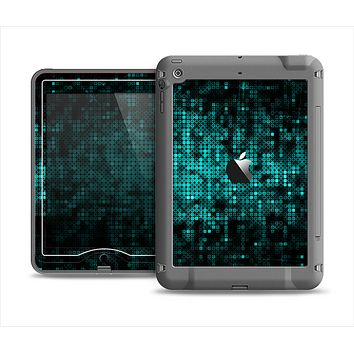 The Glowing Digital Green Dots Apple iPad Mini LifeProof Nuud Case Skin Set