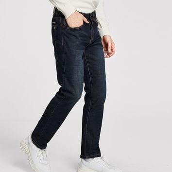 Men Solid Straight Jeans