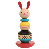 PETITCOLLAGE MODERN BUNNY WOODEN STACKING TOY