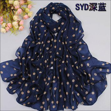 DCCKJG2 2016 Spring and autumn velvet chiffon scarf sunsreen cape beach towel polka dot silk scarf