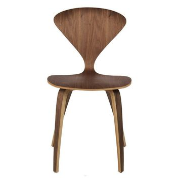 Modern Walnut Norman Cherner Reproduction Side Dining Chair