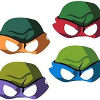 Teenage Mutant Ninja Turtles Masks 8ct