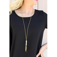 Bourbon And Boweties - Mimi Pearl Tassel Necklace