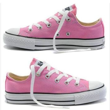 """Converse"" Fashion Casual Canvas Flats Sneakers Sport Shoes Pink G"