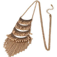 Tribal-Inspired Tiered Necklace