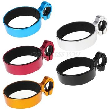 Free Shipping Bicycle Coffee Cup Holder Aluminum Alloy Water Bottle Cycling For Handlebar Rack