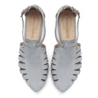 NEW ARRIVALS, Alice, Light Blue shoes, Flats, Leather Sandals