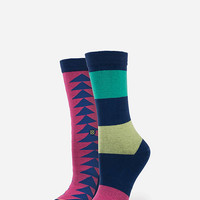 Stance Yinka Girls Athletic Crew Socks Pink One Size For Women 26023935001