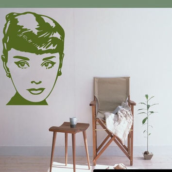 Famous Audrey Hepburn Vinyl Decal | Great for Cars or Walls