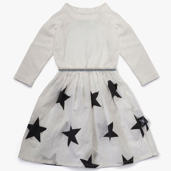 Nununu Maxi Star Dress in White - NU0849