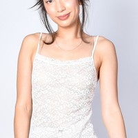 ECH Vintage Sheer Lace Cami - Cream