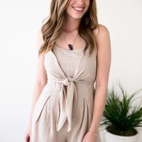 The Right Time Knot Front Romper