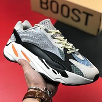 Adidas Yeezy Boost 700 Grinded leather weaving stitching shoes