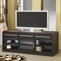 A.M.B. Furniture & Design :: Living room furniture :: TV Stands :: Espresso finish wood TV stand entertainment center with storage drawers and built in connect it drawer