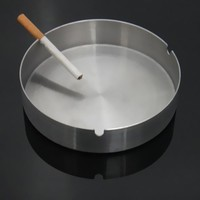 V1NF Strong 401 Stainless Steel Hotel Bar Home Ashtray Cigarette Ash Holder 12CM Free Shipping