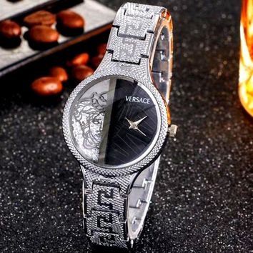 Versace 2018 new fashion personality wild waterproof quartz watch F-JYXCX-Y silver