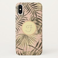 Palm leaf tropical phone case