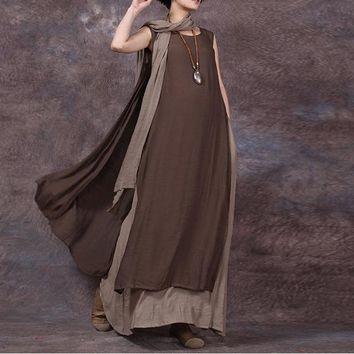 NEW! Double Cotton /Linen Empress Dress