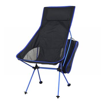 Professional Fishing Chair Folding Camping Chair Portable Lengthen Fishing Chair Max supports 100KG for Picnic BBQ Beach Party