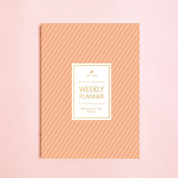 2017 WEEKLY PLANNER - 2017 Agenda, 2017 Planner, 2017 Monthly Planner and Calendar, 2017 Journal, Weekly Diary, Personal Organizer, Planner