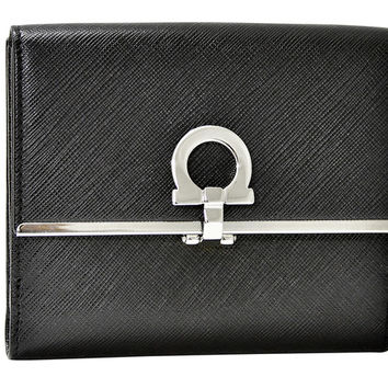 Ferragamo Icona French Wallet - Black