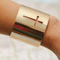 Cut Out Cross Cuff from Papers & Peonies